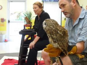 Educating students about owls!