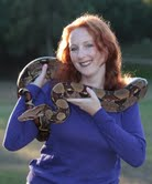 Aaaw- what a beauty! The snake and Rebecca :)!