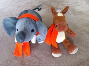 e e orange scarves