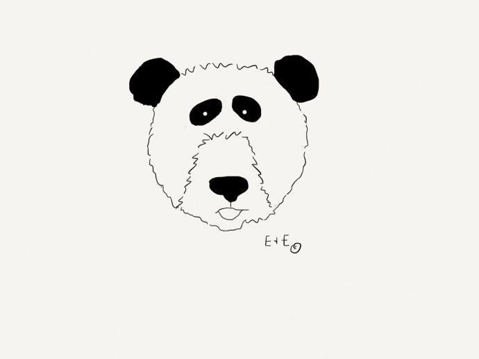 panda coloring sheet