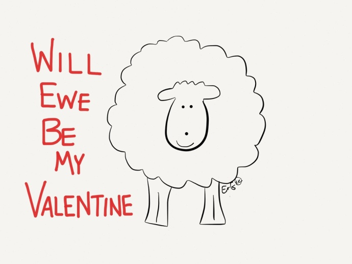 sheep valentine