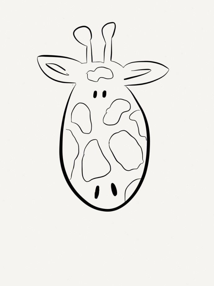 giraffe coloring sheet