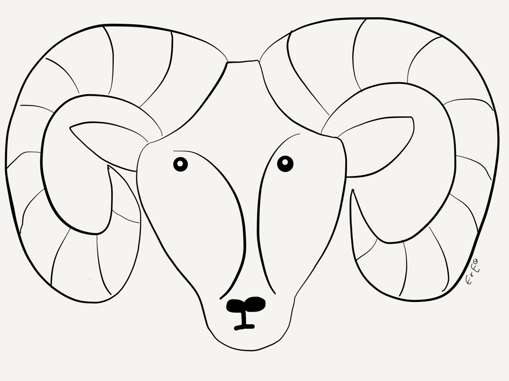 Big horn sheep coloring pages