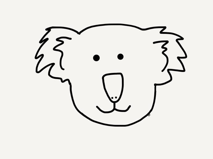 koala coloring sheet