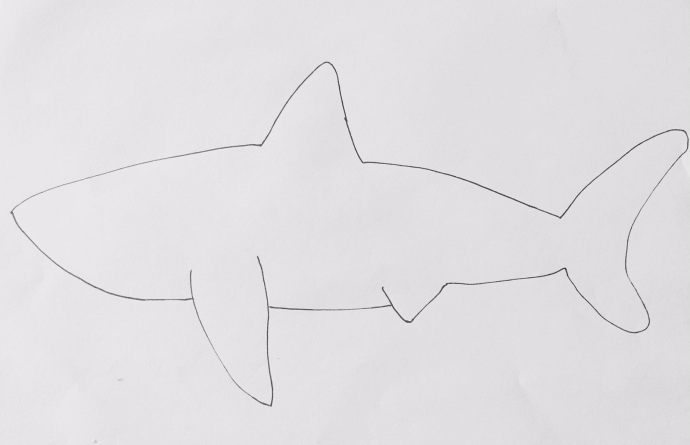 Printable shark pattern